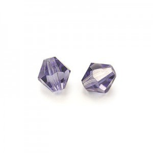 3x3mm Tanzanite Czech MC Rondelles