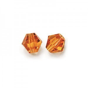 6x6mm Topaz Czech MC Rondelles
