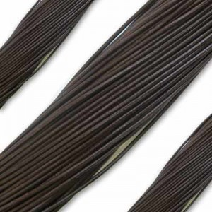 1.3mm Dark Brown German Leather 1 Meter (39 Inches) Length