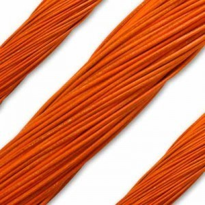 1.3mm Orange German Leather 1 Meter (39 Inches) Length