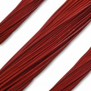 1.3mm Red German Leather 1 Meter (39 Inches) Length