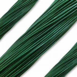 2mm Forrest Green German Leather 1 Meter (39 Inches) Length