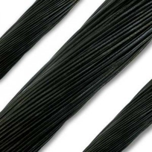 1.3mm Black German Leather 1 Meter (39 Inches) Length