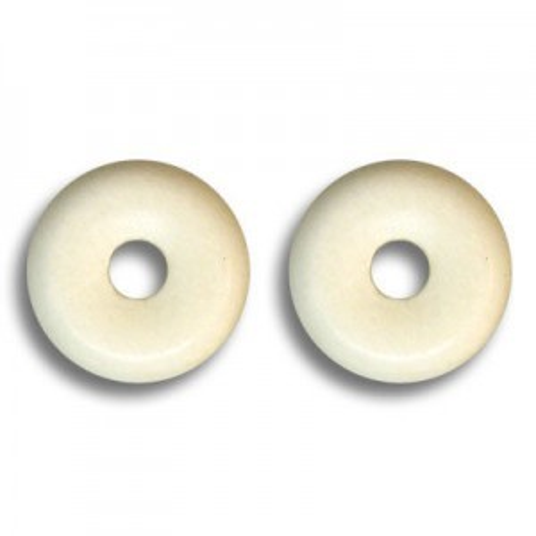 8mm White Smooth Bone Rondelle 200pcs