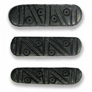 1 Inch Black 3-Row Hand Carved Bone Spacer 50pcs