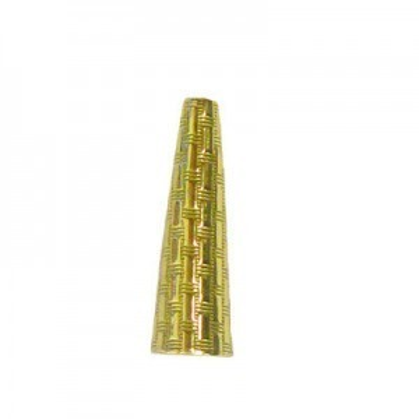 18x6mm Cone W/ Circle Patter 5mm Id-A, 1.3mm Id-B Brass Anti-Tarnish 10 Pcs