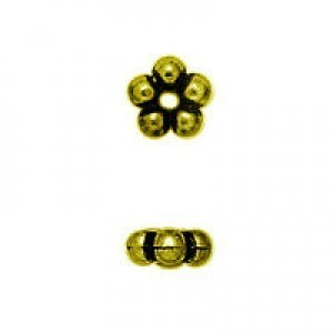 2.5x8mm Bead Ring Rondelle Antique Gilt