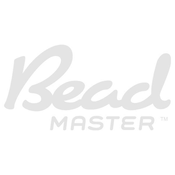 8mm Crystal Matte Marea Czech Glass Pyramid 2-Hole Beadstuds