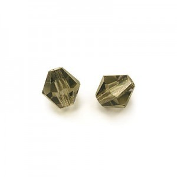 4mm Black Diamond Czech MC Bicone