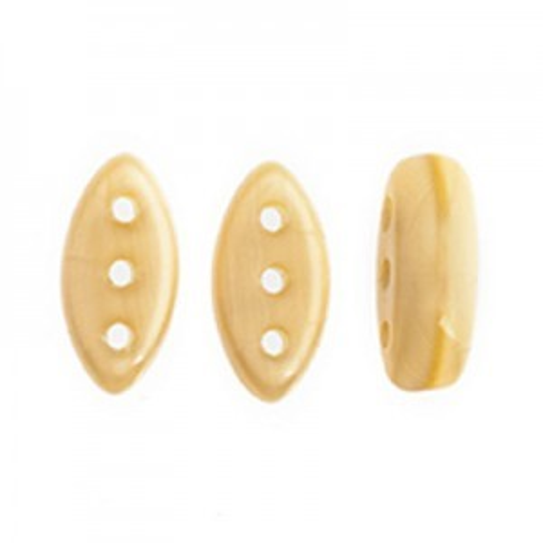 Czech Cali® Bead 3x8mm 3-Hole Topaz Silk (300pc)
