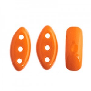 Czech Cali® Bead 3x8mm 3-Hole Orange Opaque (300pc)