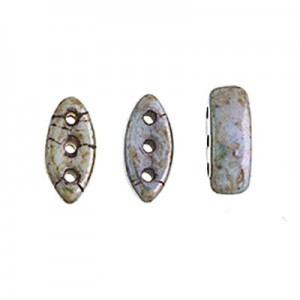 Czech Cali® Bead 3x8mm 3-Hole Patina (300pc)