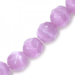 4mm Light Purple Faceted Round Cat's Eye 16 Inch Strand (Approx.100 Beads)