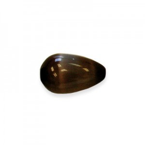 15x10mm Dark Brown Smooth Tear Drop Cat's Eye 16 Inch Strand (Approx.26 Beads)