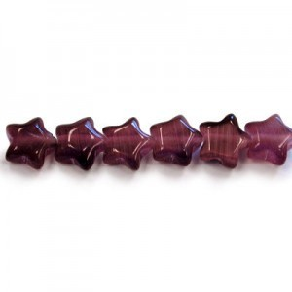7mm Dark Purple Star Cat's Eye 16 Inch Strand (Approx.57 Beads)