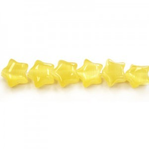 7mm Yellow Star Cat's Eye 16 Inch Strand (Approx.57 Beads)