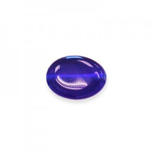 10x8mm Royal Blue Flat Oval Cat's Eye 16 Inch Strand (Approx.40 Beads)