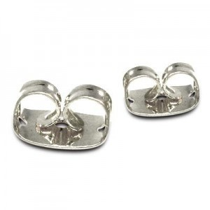 Ear Clutch Silver Plate Lacquered (Priced Per 100)