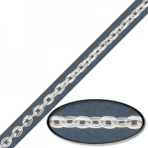 3x2mm Steel Cable Chain Silver Finish - 20mtr(65ft) Spool