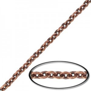 4x3mm Steel Cable Chain Copper Antique Finish - 20mtr(65ft) Spool