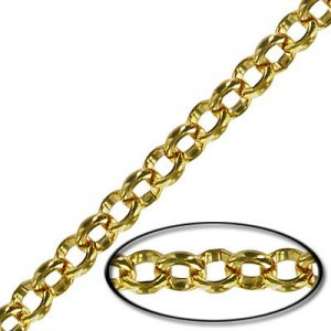 4.5mm Steel Rolo Chain Gold Finish - 10mtr(33ft) Spool