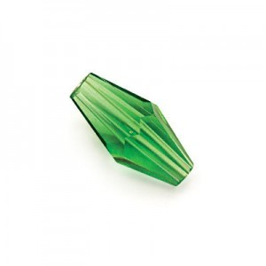 8x4mm Emerald Hand Cut Glass Lantern Sold by 16 Inch Strand (Approx. 50 Beads)