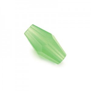 12x6mm Jade Hand Cut Glass Lantern Sold by 16 Inch Strand (Approx. 33 Beads)