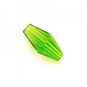 12x6mm Peridot Hand Cut Glass Lantern Sold by 16 Inch Strand (Approx. 33 Beads)