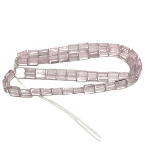 6mm Light Rose Half Cut Cube Glass Bead Sold by 16 Inch Strand (Apx 66 Beads)