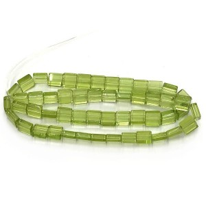 6mm Mint Half Cut Cube Glass Bead Sold by 16 Inch Strand (Apx 66 Beads)