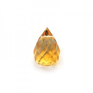 8x12mm Citrine Hand Cut Drop 16 Inch Strand ( Approx. 30 Beads )
