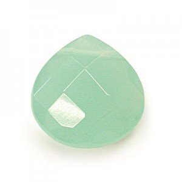 6x6mm Light Green Quartz Hand Cut Pear 16 Inch Strand (Approx. 50 Beads)