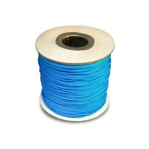 Chinese Knotting Cord 0.8mm Neon Mykonos Blue 100m(328ft) Spool