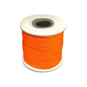 Chinese Knotting Cord 0.8mm Neon Orange 100m(328ft) Spool