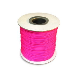 Chinese Knotting Cord 1.2mm Neon Pink 100m(328ft) Spool