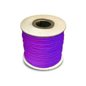 Chinese Knotting Cord 0.8mm Neon Vivacious Purple 100m(328ft) Spool