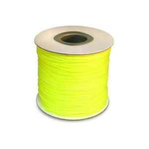 Chinese Knotting Cord 1.2mm Neon Yellow 100m(328ft) Spool