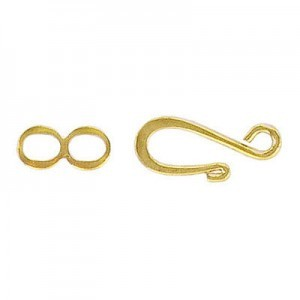 S Clasp Gold Plate (100pc)