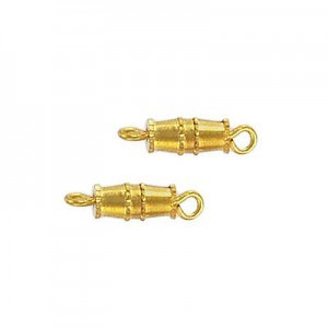 Screw Clasps Gold Plate (100pc)