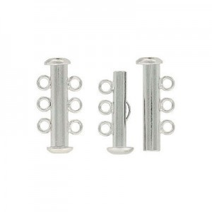3-Row Slide Silver Plate Lacquered (Priced Per Dozen)