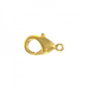 Brass Clasp 15mm Gold Plate (50pc)