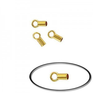 Tube Crimp Connector 1.4mm Id Gold Plate (100pc)
