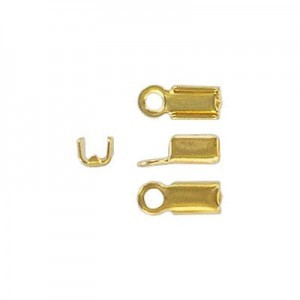 Crimp Connector 2mm Id Gold Plate (500pc)