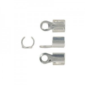 Crimp Connector 3.5mm Id Silver Plate Lacquered (500pc)