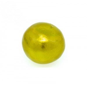 12mm Round Cotton Bead Chartreuse Pearl