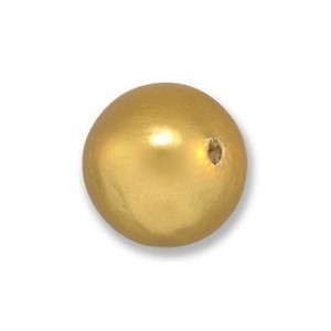 12mm Round Cotton Bead Gold Pearl