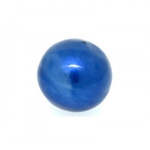 12mm Round Cotton Bead Montana Blue Pearl