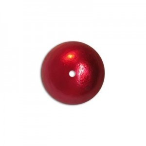 12mm Round Cotton Bead Red Pearl