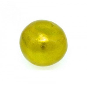 14mm Round Cotton Bead Chartreuse Pearl