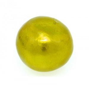 16mm Round Cotton Bead Chartreuse Pearl
